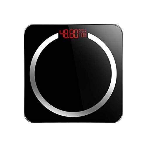GGPUS Körperfettwaage, intelligente BMI-Waage, Digitale Personenwaage, Haushaltsgesundheit, wiederaufladbarer USB-Anschluss, Gesundheitsmonitor, max,Black