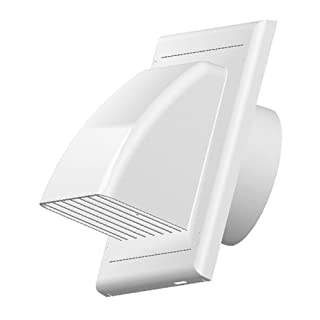 Vents Ventilation Grate Covering Return Flap Diameter 100 mm ABS White Outer Cover
