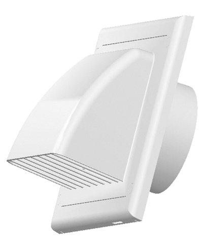 Griglia di ventilazione di scarico zuluft cappa travestimento valvola antiritorno Ø 100 mm ABS bianco esterno aspirante