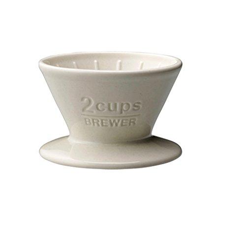 Kinto Slow Coffee Porzellankaffeefilter für 2 Tassen. Farbe: weiß