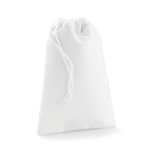 BagBase Tasche Tuch Polyester Sublimation Sachen Tasche Freizeit-Shopper White