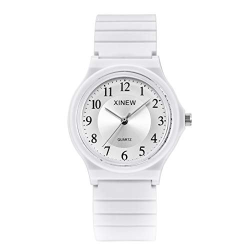 Quarzuhr Herren Armbanduhren, Ultradünne Unisex Kinderuhr Silikon Sportuhr Analog Quarz Armbanduhr EvansampA