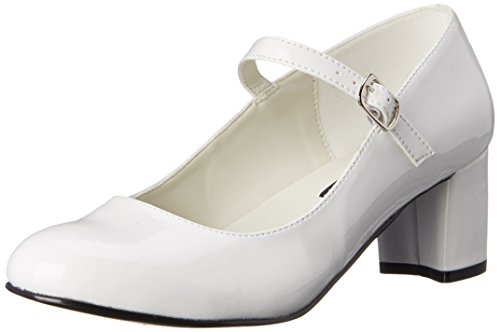 Pleaser Schoolgirl 50, Damen Pumps, Weiß (Wht Pat), 38 EU (5 UK)