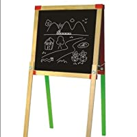 Deluxe Height Adjustable Standing Wooden Easel - 2 sided