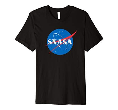 (SNASA Shirt Meatball Logo Abzeichen Trendiges Grafik T-Shirt)