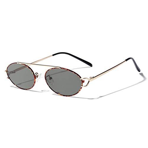 ZRTYJ Sonnenbrille Light Frame Punk Sonnenbrillen Herren Damen Sonnenbrillen Oval Classic Retro Eyeglasses Coole Goth-Stil Lentes De Sol Hombre