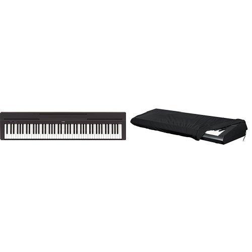 Cover Keyboard Yamaha (Yamaha P-45B Digital Piano schwarz + Gator Keyboard-Cover für Keyboards mit 88 Tasten (Stretch) Bundle)