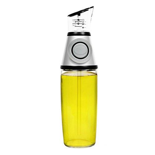 500ml Olio Stampa misura bottiglia bottiglia Aceto Dispenser no antigoccia vetro trasparente da cucina helper