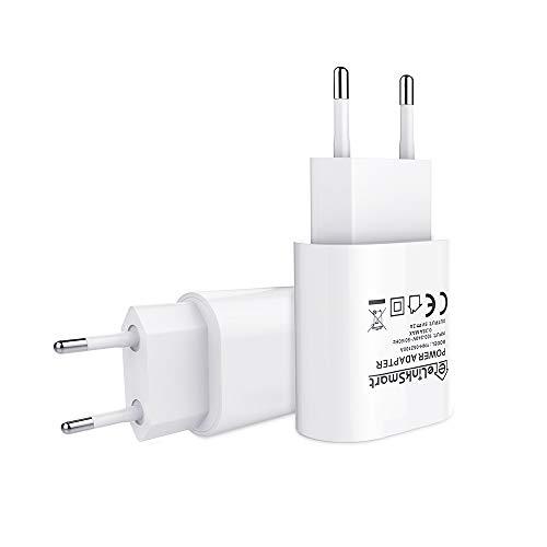 eLinkSmart 2 Pack USB Ladegerät EU 5V / 2A USB Ladegerät für iPhone 7/7 Plus / 6 s / 6 s Plus, iPad, iPod, Tablet, Galaxy, Samsung Telefon