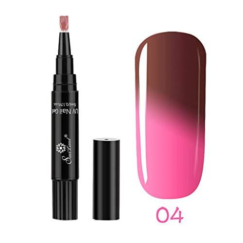 Vernis Gel Semi Permanent UV LED - Vernis à Ongles Nail Gel Soak off Manucure 8ml #104 Rouge voilé
