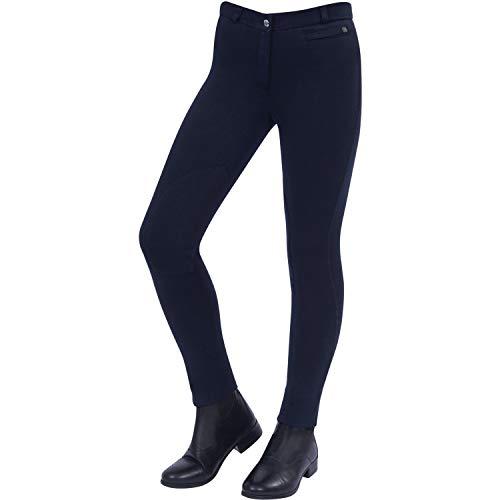 Dublin Childs Supa Fit Zip Up Knee Patch Jodhpurs 23 inch Navy Fit Breeches
