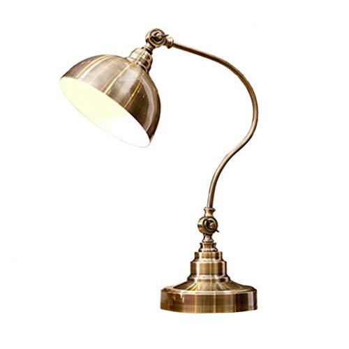 Vintage lámpara de mesa dormitorio República de China lámpara de mesa de hierro forjado viejo Shanghai IKEA lámpara de mesa libro de sala lámpara de mesa americana nostálgica lámpara de noche Met Love