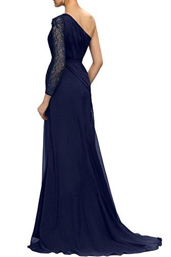 Gorgeous Bride Elegant Lang 2017 Brautmutterkleider Ein-Träger Etui Chiffon Spitze Abendkleider Lang Cocktailkleider Ballkleider Olive