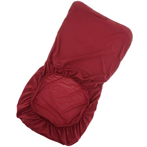 Non-brand Housse de Chaise Extensible en Polyester Spandex Couverture de Protection pour Tabouret Chaise Siège - Vin Rouge