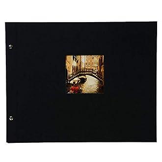 Goldbuch Bella Vista Album portafoto, 40 pagine con pergamena, nero, 39x31 cm