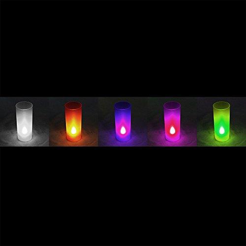COM-FOUR- Luces de fiesta a pilas, 5 colores, 10 pilas incluidas.