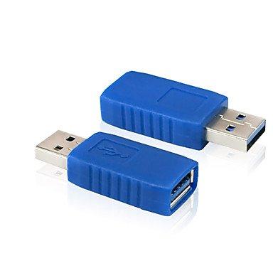 azazaz @ USB 3.0 eine Frau zu USB 3.0 EIN männlicher Stecker Erweiterungsstecker Konverter Adapter