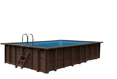 Piscine Summer Oasis, piscine sur de jardin et piscine erdeinbau, bois, rectangulaire, 6,00x 4,19x 1,31M, Pompe, échelle de piscine