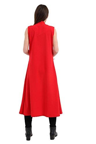 Momo&Ayat Fashions -  Cappotto  - Piumino - Senza maniche  - Donna Red