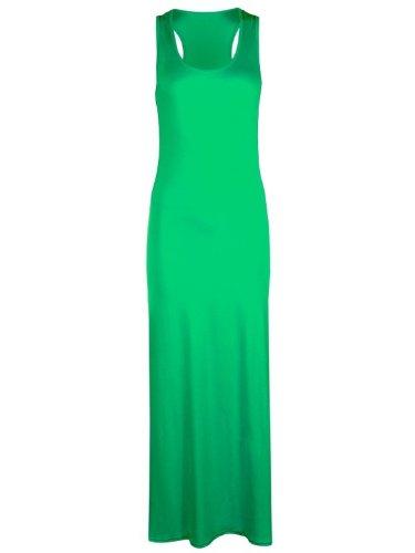 (Fashion Street Damen Schlauch Kleid Grün Smaragdgrün 36)