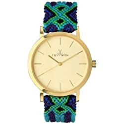 Toywatch Maya Women's Quartz Watch with Gold Dial Analogue Display and Purple Strap MY01GD - 0.94.0055