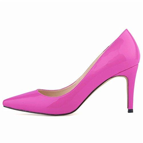 Femmes Pompes Talons hauts Fashion Pointed Toe Femmes Chaussures Talons Minces Pompes 10cm Talons hauts Chaussures Rouge Femme 2