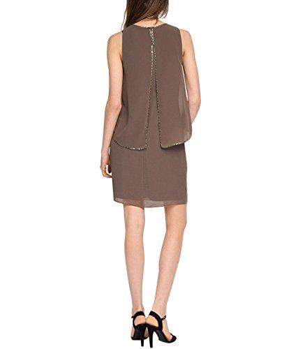 ESPRIT Collection Damen Kleid 026eo1e014-Lockerer Fall Braun (TAUPE 240) ... 98a079dc35