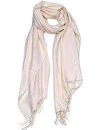 DEBAIJIA Bufanda acogedora Super suave Smooth Pashmina Cold Protection Stole Chal lana de cachemira para mujeres