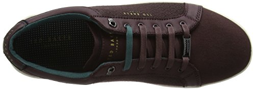 Ted Baker Keeran 4, Baskets Basses Homme, Rouge Foncé Rouge (Dark Red)