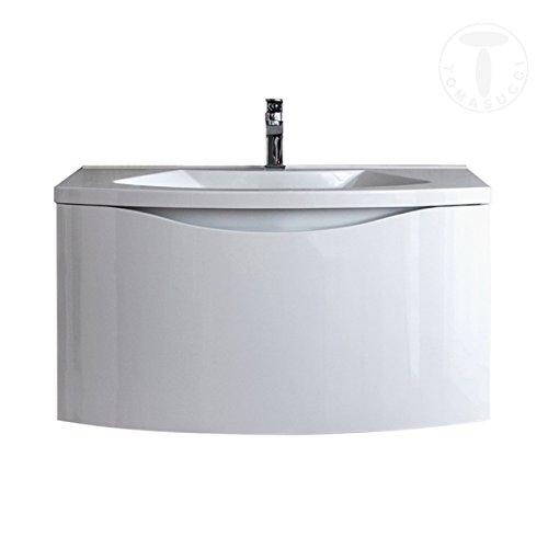 For@home mobile bagno b075 base sospesa laccato bianco lucido con lavello
