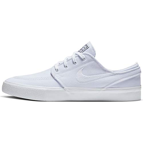 White Nike Sb (Nike Unisex-Erwachsene Sb Zoom Janoski CNVS Rm Fitnessschuhe, Mehrfarbig White/Gum Light Brown/Black 000, 42 EU)
