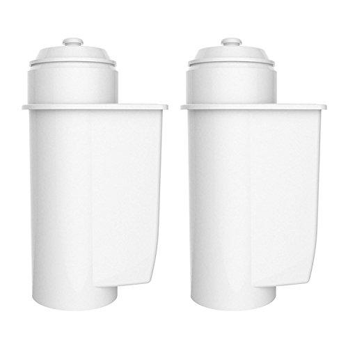 2 x AquaCrest AQK-02 remplacement du filtre à eau de la machine à café automatique compatible avec Brita Intenza+ - incluant divers modèles de Philips Saeco, Bosch, Gaggia