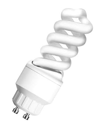 Osram 549280 Duluxstar Nano Twist 9 W/840, entspricht 40 Watt, 220-240 V Sockel Gu10 Energiesparlampen in Spiralform klein 30 mm, kaltweiß