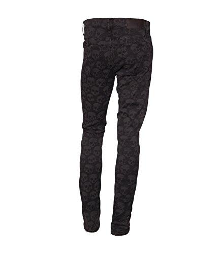 TIGER OF SWEDEN Herren Jeans mit Muster Sharp black 050 black