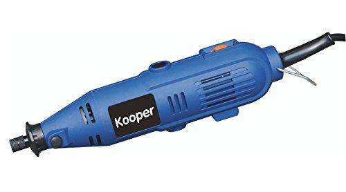 Kooper 2404132 Fraiseuse/mini trépan comprenant 40 accessoires Bleu/noir 135 W