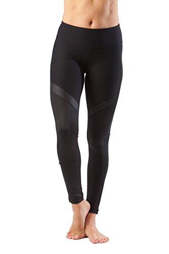 90degrés par Reflex Shimmer Maille Contraste Legging Leggings–performances–Absorbe la transpiration–Pw70441Pantalon de sport Yoga Jogging noir