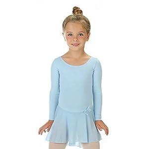 elowel | Mädchen | Sport-Ballet-Tanztrikot | Tutu | Gymnastikanzug, Leotard | Langaermelig – Mit Rock, Rüschen | Elegant & Bequem | In Mehreren Farben und Größen (2-14 Jahre) erhältlich