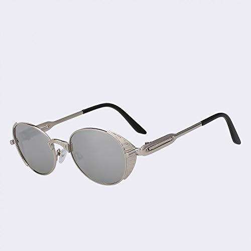 TIANKON Ovale Sonnenbrille Männer Frauen Sonnenbrille Retro Metall Brille Frauen Uv400,A6d