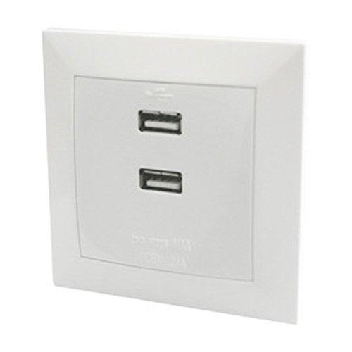 ElectroDH 36547 DH Cargador EMPOT.C/2 Salidas USB 5VDC/2.1A