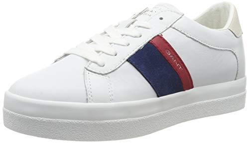 GANT Footwear Damen Aurora Sneaker, Weiß (Br.Wht/Ind.Blue/Red G282), 37 EU