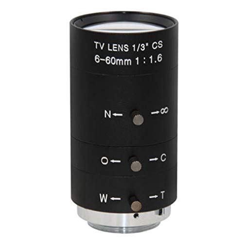 Manual Lente Video CCTV Leoboone Iris Zoom 6-60mm