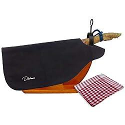 Dhabmin Cubre Jamón Color Negro + Paño de Cocina, Ideal para Jamon Serrano o Ibérico