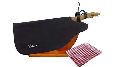 Dhabmin Cubre Jamón Color Negro + Paño de Cocina