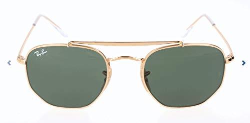 RAYBAN JUNIOR Unisex-Erwachsene Sonnenbrille Marshal Gold/Green, 51