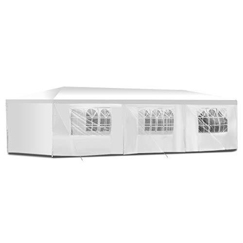 boudech tenda/gazebo per feste 3x9 impermeabile bianco tendone per fiere e mercati *3x9 per feste*
