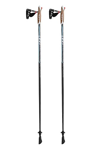 LEKI Damen Response Lady Nordic Walking Stock, Black/Anthracite-White-Light Blue, 110
