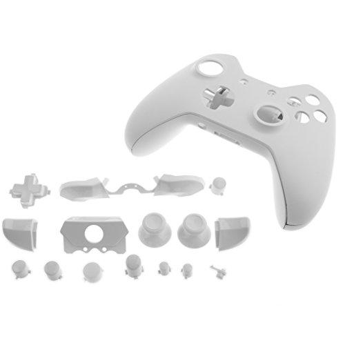 gazechimp Full Housing Shell Case Kit Ersatzteile für Xbox One Controller Shell, weiß