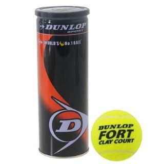 Dunlop Fort Clay Court Boîte de 3balles de tennis
