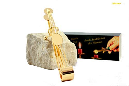 Dresden Online Shop Puede Apagavelas Alicate Oro 18cm | Velas para Redes Borrar
