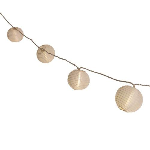 Plaights Lampion Lichterkette mit 20 LED\'s in warmweiß | Sommerlichterkette für draußen | perfekte Dekoration für Garten, Terrasse, Balkon, Party und Feiern
